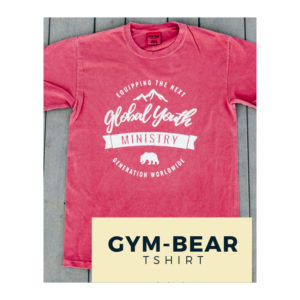 GYM Bear Tshirt - Brick Red